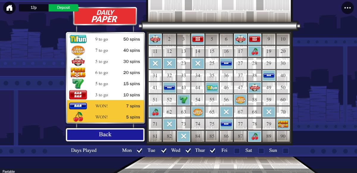 Heart bingo free game example